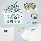 Pack 167 étiquettes personnalisées Crèche Animaux par Ludilabel | Haute Qualité Fabrication 100% Française | étiquettes vêtements enfants et objets résistants et faciles à coller.