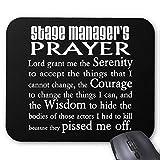 BGLKCS Stage Manager's Prayer Tapis De Souris Mouse Pad...