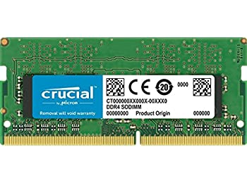 Crucial CT16G4S24AM 16 GB (DDR4, 2400 MT/s, PC4-19200, DR x8, SODIMM, 260-Pin) Memory for Mac