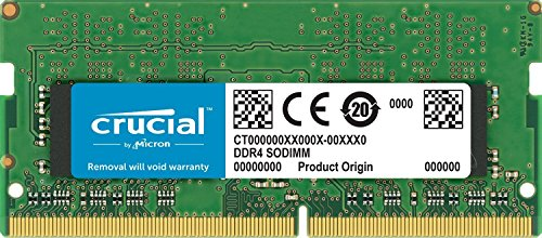 Ecc Single Rank Kit (Crucial CT16G4S24AM 16GB Speicher (DDR4, 2400 MT/s, PC4-19200, Dual Rank x8, SODIMM, 260-Pin für Mac))