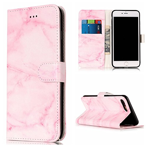 iphone7-plus-casebestcatgift-kickstand-feature-iphone-7plus-wallet-case-idcredit-card-pocketspink-ma