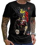 Stylotex Herren T-Shirt Basic So sehn Sieger aus Guy Belgien Belgium, Farbe:schwarz;Größe:M