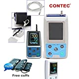 Contec CONTEC ABPM50 Handheld 24hours Ambulatory Blood Pressure Monitor with PC Software For Continuous Monitoring NIBP USB Port With three cuffs