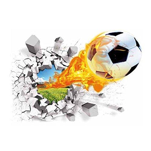 (Masterein 3D-Fußball-Pause entfernbarer Wand-Aufkleber Tattoo Kinder Nursery Baby-Raum-Fußball-Abziehbilder Startseite Dekorative Tapete)