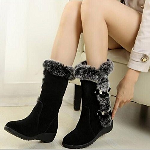 Stivali di inverno comodi stivali caldi brown