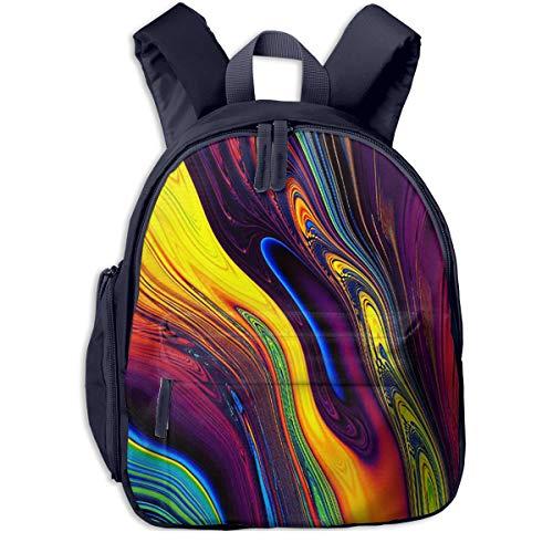 Kinderrucksack Buntes Iridium-Muster, Schulrucksack Für Mädchen Und Jungen Schultasche Schulranzen Teenager Backpack Daypack Freizeitrucksack Kinder Rucksack