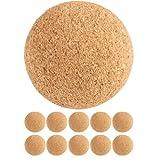 TUNIRO® 10 Stück Kicker Bälle aus Kork, leise und griffig, Durchmesser 35mm, Tischfussball Kickerbälle Ball