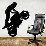jiuyaomai Extremsport Motorradfahrer Stehende Aufkleber Kunstwandtattoo Dekorieren Das Wohnzimmer...