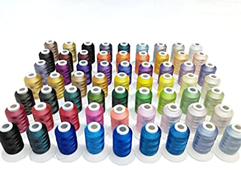 Simthread 63 Spool Brother Colors Polyester 120d/2 40 Weight Embroidery