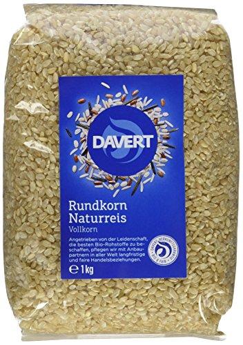 Davert Naturreis rundkorn, 4er Pack (4 x 1 kg) - Bio
