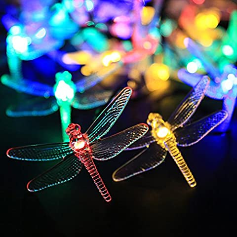 Solar String Lights, NEWSTYLE (19.7ft/6M, 30 LED, 8 Modes, Waterproof,