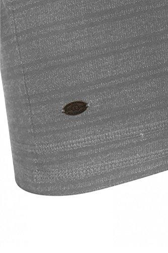 Tokyo Laundry Herren Blusen Langarmshirt Hellgrau (Light Grey Marl)