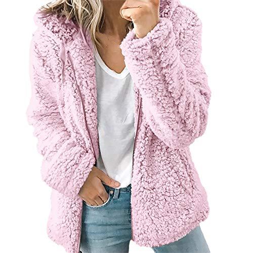 Damen Mäntel SUNNSEAN Frauen Jacket Outwear Winterjacke Herbst Langärmelige Dicke Kapuze Offene Stich Jacke Strickjacke Outwear