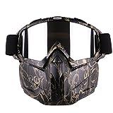 LVPY Gesichtsmaske, Einstellbar Full Face Maske Taktische Schutzmaske Mit Schutzbrille Airsoft Maske für Nerf - Stil-2