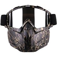 YAHAMA Táctica Máscara–Máscara protectora facial con protección gafas máscara infantil para Nerf Rival/Airsoft/Paintball/CS, color 5, tamaño 5 x 18 x 18,5cm