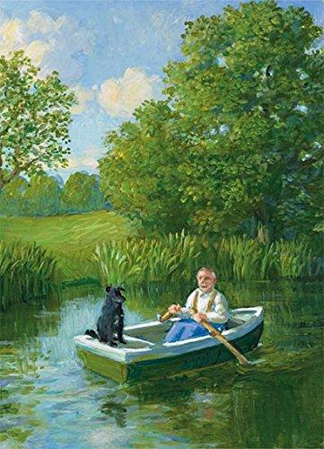 Postkarte A6 • 15046 \'\'Bootsfahrt\'\' von Inkognito • Künstler: Michael Sowa • Liebe & Romantik • Urlaub