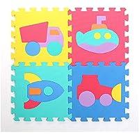 9 piezas de rompecabezas que entrelaza bebé suave espuma gimnasia de la actividad alfombra de juego Set Floor Mats, Vehículos - Peluches y Puzzles precios baratos