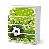 creatisto Dekor-Folie für Ikea Malm 4 Schubladen   Kinderzimmer Einrichtung Möbel-Folie Klebefolie Sticker Aufkleber   Dekorationsideen Ikea Möbel für Kinder Kindertapete   Kids Kinder Goal