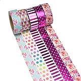 K-LIMIT 5 Set Washi Tape rollos de Washi Tape, cinta decorativa autoadhesivo, cinta de enmascarar, masking tape Scrapbooking DIY Washitape Scrapbooking DIY 5549