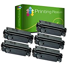5 Compatibles Cartuchos de tóner para HP Laserjet 5000 5000DN 5000GN 5000LE 5000N 5100 5100DTN 5100LE 5100N 5100SE 5100TN Canon LBP-840 LBP-850 LBP-870 LBP-880 LBP-910 LBP-1610 LBP-1620 LBP-1810 LBP-1820 ImageClass 2200 2210 2220 2250 LP-3000 LP-3010 FP-300 FP-400 Copier GP-160F - Negro, Alta Capacidad