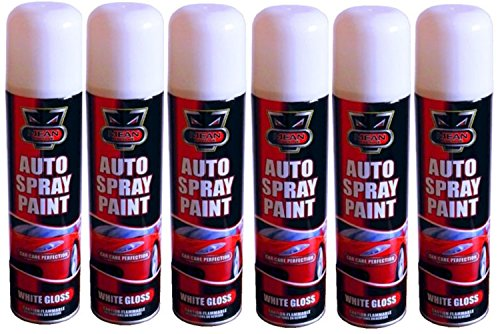 6-x-300ml-white-gloss-auto-spray-paint-can-aerosol-ideal-for-interior-exterior