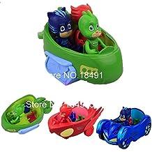 New 3Pcs/set PJ Masks Boys and BIG 3 seats CARS Popular Cartoon Toys for Kids - Nuevo 3Pcs / set PJ MASKS a muchachos y los COCHES GRANDES Juguetes populares de la historieta para los cabritos