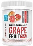 Sauna Zubehör Meersalz Peeling Salz Saunasalz I Grapefruit 500g I mit Jojobaöl I für die Haut I Ideale Wellness