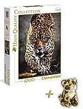 Clementoni Puzzle Der Gang des Jaguar 1000 Teile + WWF Plüschtier Jaguar 15cm