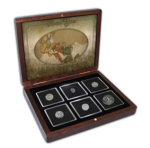 Impacto coleccionables collezione monete antichita' - 6 monete in argento di 6 imperatori antichi