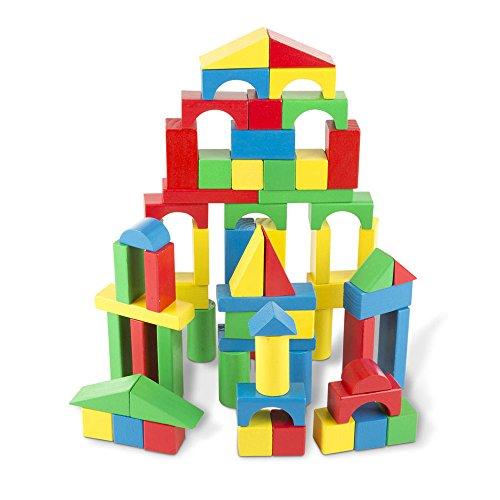 Melissa & Doug 481 Wood Blocks Set (100 Piece)