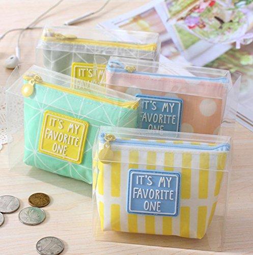 weimay Portafoglio Semplice Stile Zip monete sacchetto piccolo Mappe Borsa per Trucco chiave 12 * 3,5 * 9cm Grau Grau