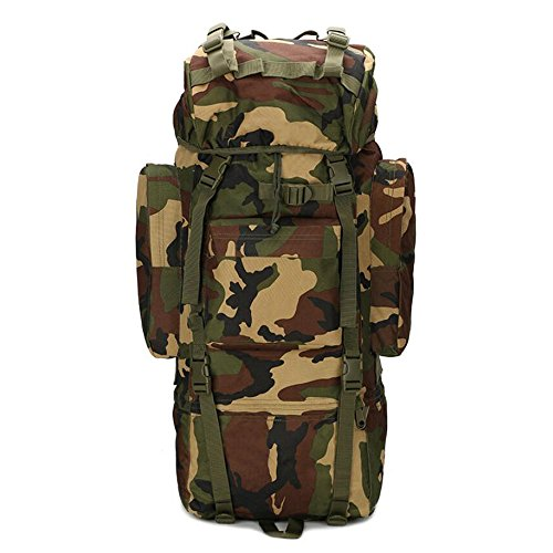 65l zaino da assalto zaino militare Gear grande sport outdoor molle tattico borsa per caccia campeggio trekking viaggio, Jungle Camo Jungle Camo