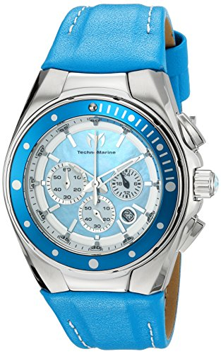 technomarine-womens-quartz-watch-with-blue-dial-chronograph-display-and-blue-leather-strap-tm-215034