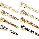 8 Stücke Strass Haarspangen Alligator Haarspange Entenschnabel Haarnadeln für Damen Mädchen Haarschmuck