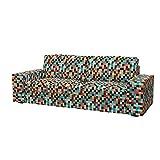 Soferia - Bezug fur IKEA KIVIK 3er-Bettsofa, Mozaik Red