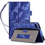 SongNi® Premium PU Leather Card Slots Funda Cover for Lenovo Tab 7 Essential / Tab4 7 Essential(TB-7304F/I/X) Android Tablet-Blue