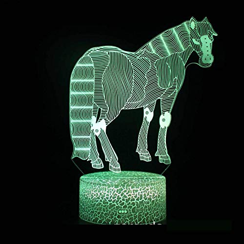 3D Nachtlicht Nachttisch 7 Farbwechsel Tier Zebra Modell 3D Illusion Lampe Party Geburtstagsgeschenke Dekorative Lichter Kinderzimmer Dekoration 3D Licht