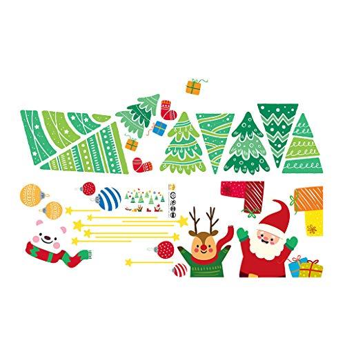 LILIGOD Weihnachten Wandaufkleber Wohnkultur Aufkleber Cute Christmas Window Stickers PVC Weihnachten Wandaufkleber Fensteraufkleber Hauptdekoration Aufkleber
