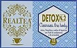 Realtea Detox N. 2 Cleanses The Body - 4 Confezioni da 36 g