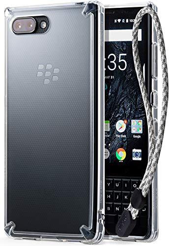 Ringke BlackBerry KEY2 Hülle, [Fusion] Transparent PC Rückseite Handyhülle Cover [Verbesserter Schutz der Ecken] Leichte TPU Stoßfänger Schutzhülle mit Handschlaufe für Key 2 (2018)- Clear