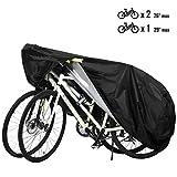 Favoto Telo Bici Copertura Biciclette da Esterno Copribici Impermeabile 210D Resistente a Polveri/Pioggia/Neve/UV Copribiciclette con Buchi per Lucchetto e Sacchetto per Il Trasporto (Nero)