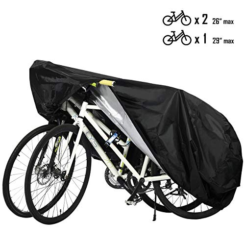 Favoto Funda para Bicicleta Exterior 210D Cubierta Protector Impermeable al Aire Libre contra Lluvia Sol Polvo para Montaña Carretera XL Negro