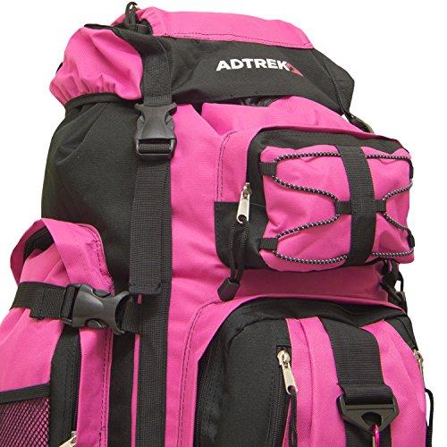Adtrek - Trekkingrucksack - Extra Groß - 120 Liter Rosa