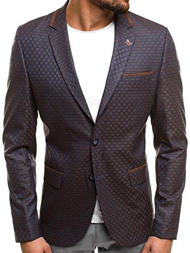 OZONEE Herren Sakko Business Blazer Anzugjacke Kurzmantel SIVIS PARIS 1700 L/52 BRAUN