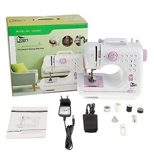 Uten Mini Macchina da Cucire elettrica Portatile Professionale Macchina Cucire Manuale per Principianti con Lampada 12 Punti (Versione 1) - 9