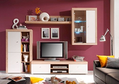 Wohnwand TV-Wand Cosmos Eiche Sonoma / Weiss - 2
