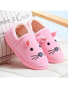 y de Hui un par de zapatillas de algodón Niños de Padres infantil de invierno funda con interior Home Equipamiento...