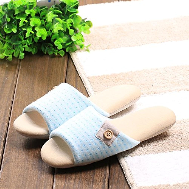 Gemütlich Paar Baumwolle und Leinen Hausschuhe Weibliche Sommer weichen Boden Anti-Rutsch Hausschuhe Holzbodenö