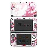 Nintendo New 3DS XL Case Skin Sticker aus Vinyl-Folie Aufkleber Blüte Zeichnung Blätter