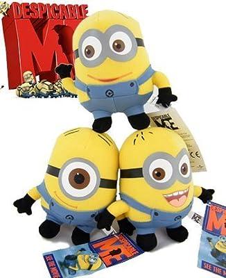 """Gru Mi villano favorito 3 Piezas NUEVO Despicable Me Minion 6 """"de Dave Jorge Stewart de colección juguete de la felpa por D.C.ES"""